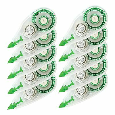 Compact Mono Correction Tape White Out 10 Pack Break Proof Office School Paper
