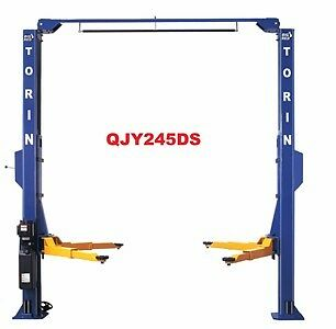 Big Red 4.5 Ton 2 Post Clearfloor Car Hoist, Car Lift, Garage Lift, QJY245DS