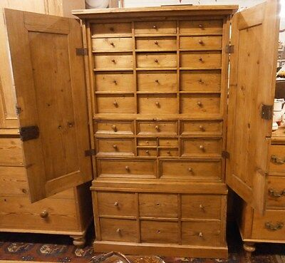 Large 19th Century Pine Spice Cabinet