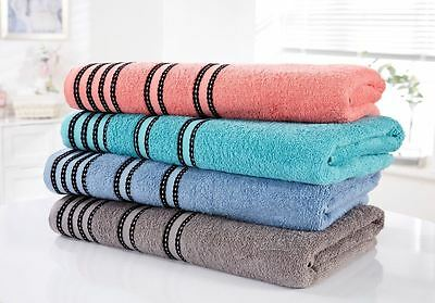 Sirocco 100% Cotton Towels Striped Bright Bold Hand Bath Towel Bath Sheet