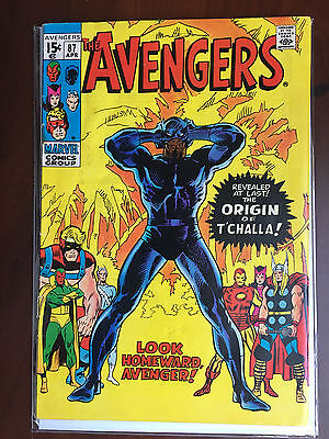 Marvel AVENGERS Volume 1 (1971) #87 ORIGIN OF T'CHALLA BLACK PANTHER