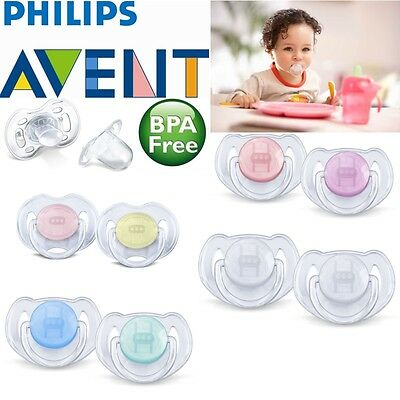 Philips Avent Orthodontic Pacifier Baby Dummy Translucent Silicone Soother