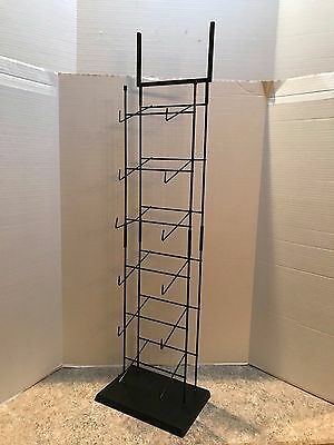 6 Tier Baseball Cap Counter Top Display - Black - with Sign Holder - Pre-Owned
