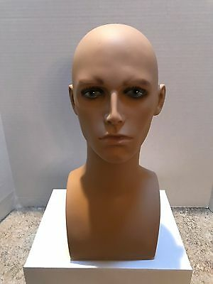 ROXY Display Realistic Male Mannequin Head (ERAF2-MD) - Pre-Owned