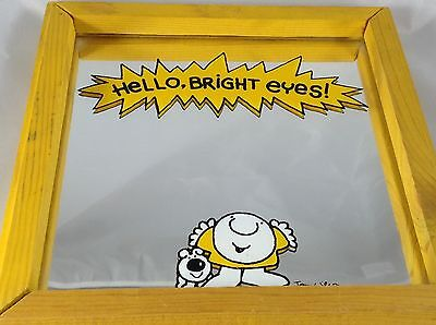 Vintage Ziggy Comic Framed Mirror: Hello, Bright Eyes