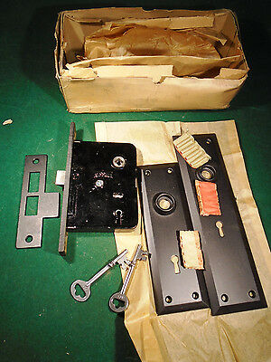 "Vintage Russwin Entry Mortise Lock: New Old Stock  7 1/2"" Faceplate (8989-B)"