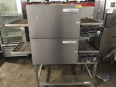 Lincoln Impinger 1132 Double Stack Electric Conveyor Pizza Sub Oven WORKS GREAT