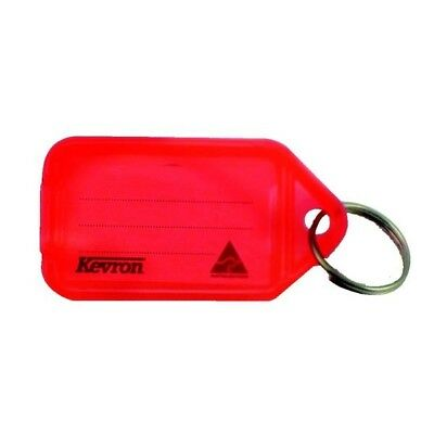 Kevron Plastic Clicktag Key Tag Red Pack of 100 ID5RED100