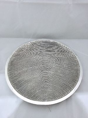 "VINTAGE 1970 80's modernist SILVER PLANET SUN 12"" DISH BOWL signed A.C of ITALY"