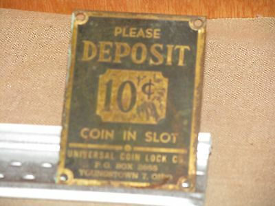 Vintage Original COIN IN SLOT metal faceplate