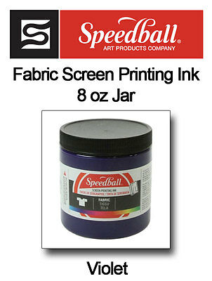 SPEEDBALL FABRIC SCREEN PRINTING INK 8 oz Violet