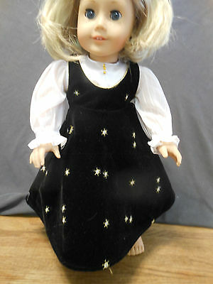 American Girl Doll clothes - Dressy black jumper and fancy blouse