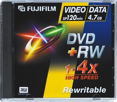 Fujifilm DVD+RW Jewel Case 4.7gb 4X Speed (5 Pack)