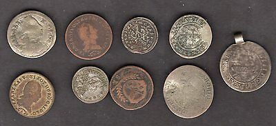 Austria / Salzburg Early Issue 9 Coin Lot - Nice Lot!