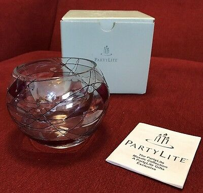 Partylite MOSAIC TEALIGHT HOLDER VOTIVE CANDLE HOLDER RETIRED #P0193 With Box