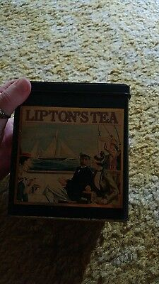 metal Lipton tea tin can England series 201