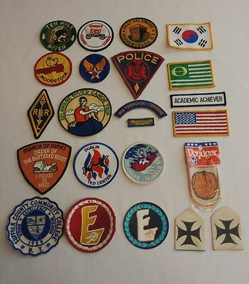 Lot of (23) Vintage Patches - WW2 Military, Police, Fraternal, Woodstock & more!