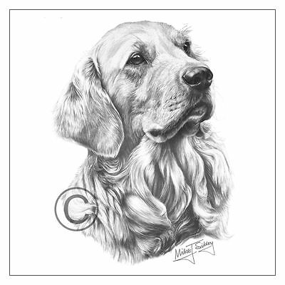 Mike Sibley Golden Retriever dog breed greeting card happy birthday thank you