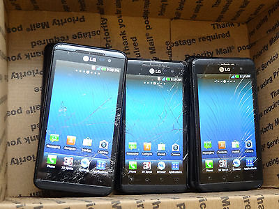 Lot of 9 LG Thrill 4G P925 AT&T Smartphones All Power On AS-IS GSM