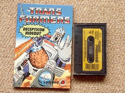 The Transformers - Decepticon Hideout. Ladybird book and cassette.