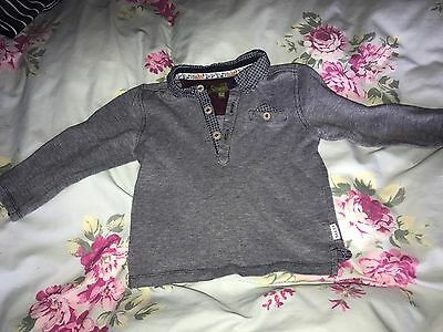 Ted Baker Boys Long Sleeved Blue Collared Top Age 18-24 Months