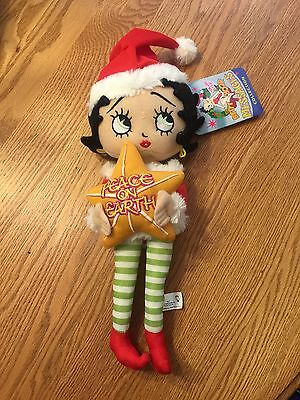 "Betty Boop Sugarloaf ""Peace on Earth"" Christmas Elf Doll"