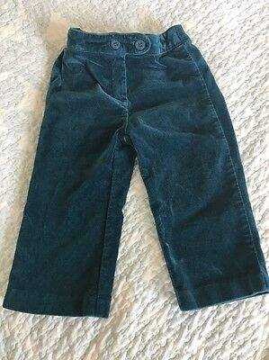 janie and jack dress 12-18 months Pants Boy Girl Velvet Velour Blue