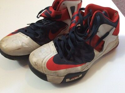 Used Worn Trashed Men's Nike Lebron Sneakers Shoes Size 13