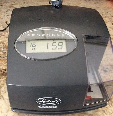 Latham 1000E Digital Display Time Clock W/Charger