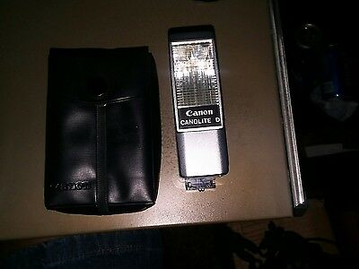 Original Canon Canolite D Flash W/Case for Canonet G-III QL17  Powers Up Clean!
