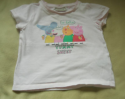 Next Peppa Pig Yummy Sweet Girls T- Shirt age 12 - 18 Mths