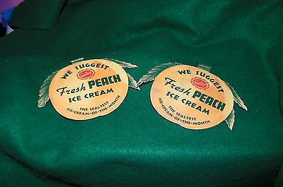 vintage  SEALTEST ICE CREAM soda fountain ice cream shop advertising badges