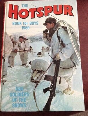 Rare Vintage Uk Annual- The Hotspur Book For Boys 1969 .