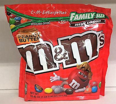 New Peanut Butter M&m's Milk Chocolate Candies Family Size 18.40 Oz Bag Mars