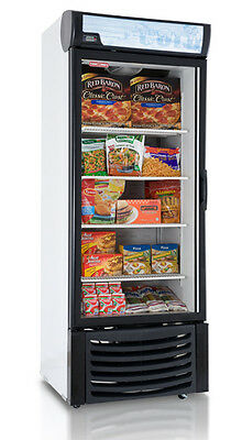 Wow! New 1 One Door Glass Display Freezer 120 Volt For Frozen Food Led Lighting