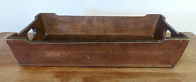 Antique EARLY Wooden PA Apple Box CANTED TRAY Carrier DRY SURFACE Square Nails