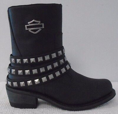 969e8a24a9cf HARLEY-DAVIDSON WOMEN S HARLAND Leather Black Shoes D83987 -  167.99 ...