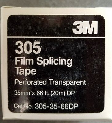 35mm Transparent Film Splicing Tape perforated 66 ft.