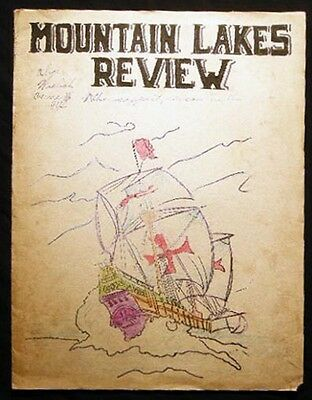 1934 Mountain Lakes New Jersey Review Junior H School Literary Social Newsletter