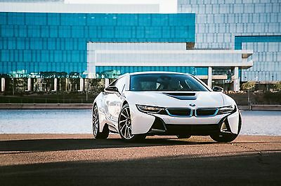 2015 BMW i8 Pure Impulse World BMW i8 Pure Impulse ~ World Crystal White Pearl w/ Blue Accents ~ MSRP: $150k
