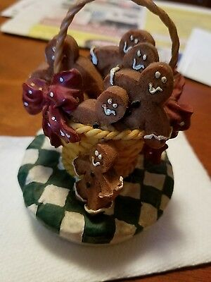 """Candle Companions, Gingerbread Men Candle Topper, fits 3"""" candle"""