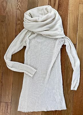 Gap Maternity Ivory Wool Cowl Neck Long-Sleeve Ribbed Sweater - S