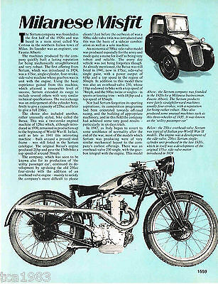 Old SERTUM (Italy) MOTORCYCLE Article / Photos / Pictures