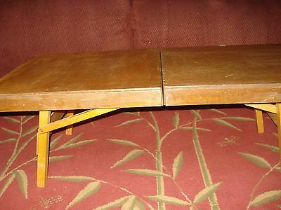 Wooden Pinic Table 1800's Antique And Unique Rare Find