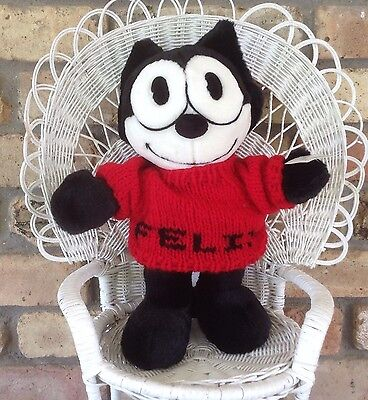 FELIX THE CAT Plush Toy w/ Red Sweater New w/ tag