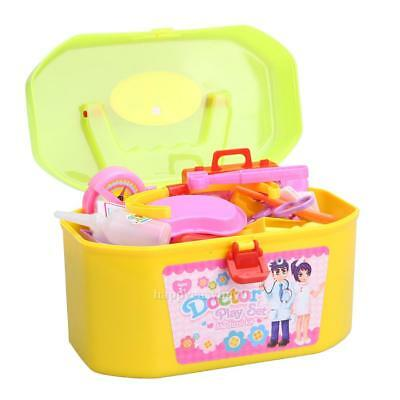 30Pcs Baby Kids Doctor Medical Play Set Carry Case Kit Education Role Play  H1