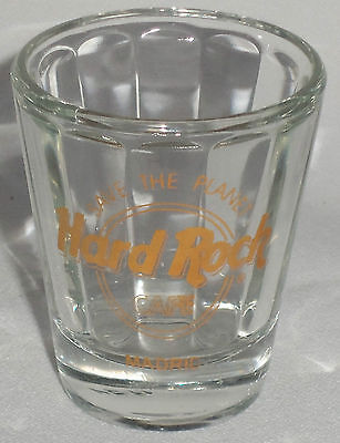 """Hard Rock Cafe MADRID Collectible Shot Glass - 2 1/4"""" tall"""