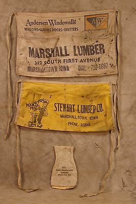 (3) Marshalltown, Iowa Lumber Company Nail Aprons (Closed Businesses)