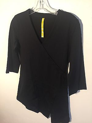 Lole Active Athletic Yoga Top 3/4 Sleeve Black Stretch Women's Small EUC