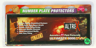 Altrex Number Plate Covers - 6 Figure, Black Clear, Pair - 'U' Shape Clips